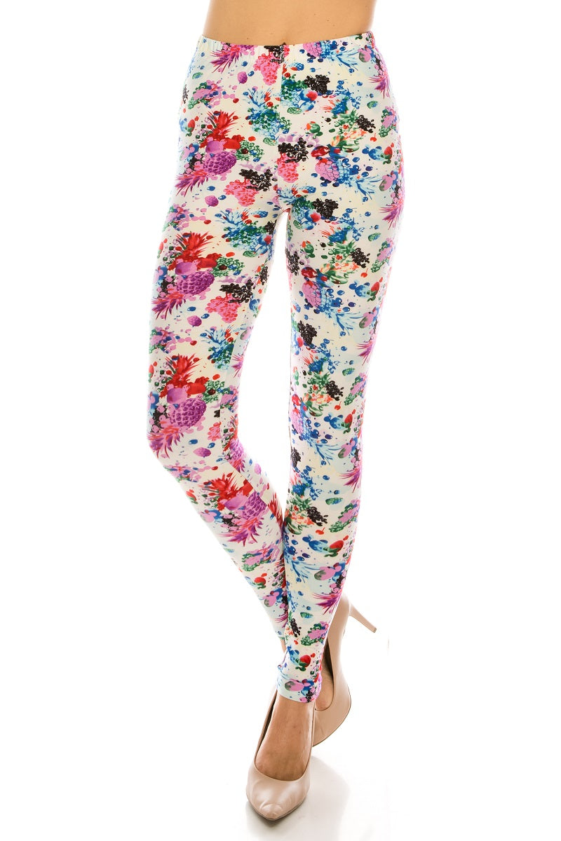 Plus Leggings: Fruit Design Leggings BCP(3XL-5XL)G30