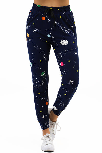Joggers: Galaxy Space Graphic Print Jogger Pants