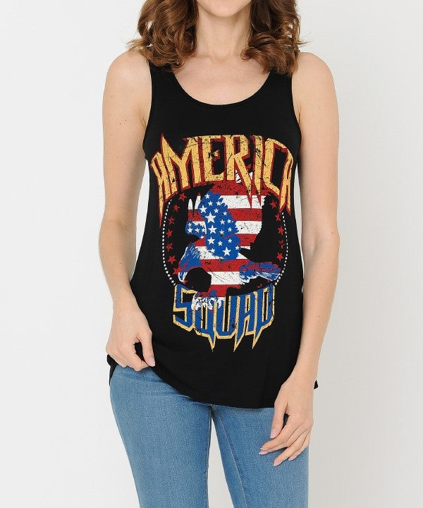 Tank Tops: American Squad Graphic Tank Top BCT031