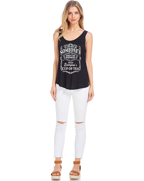 Tank Tops: I'd Rather be Graphic Tank Top BCT056