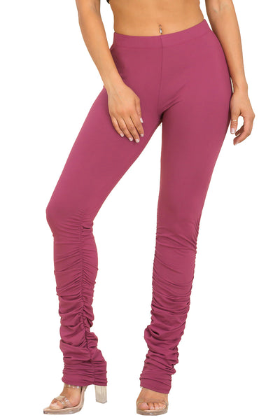 Pants: Solid Stacked Pants BCP1086