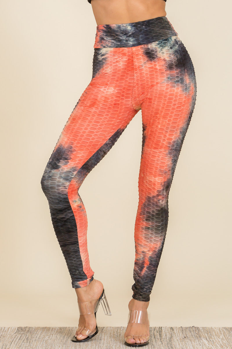 Leggings: Tie Dye Booty Yoga Pants 34 BCP3001TD