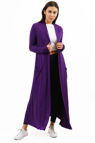 Tops: Full Length Maxi Cardigan BCT1057