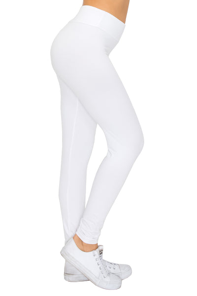 Leggings: Solid Color High Waist Leggings