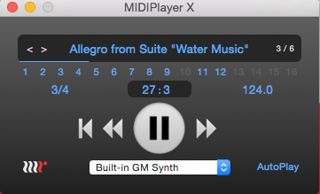 MIDI Audition on Mac OS