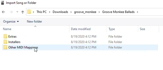 Groove Monkee Other MIDI Mappings folder