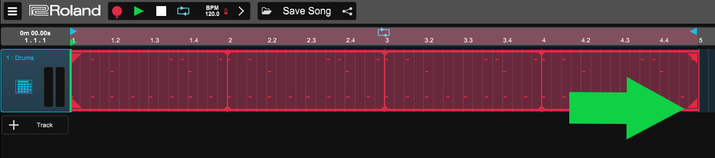 Zenbeats drag file to the right