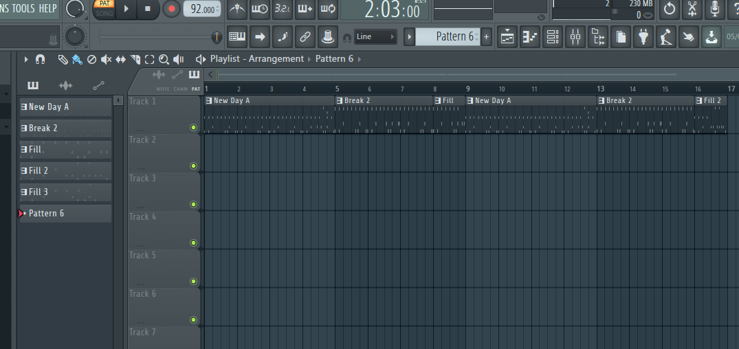 FL Studio arrangement window