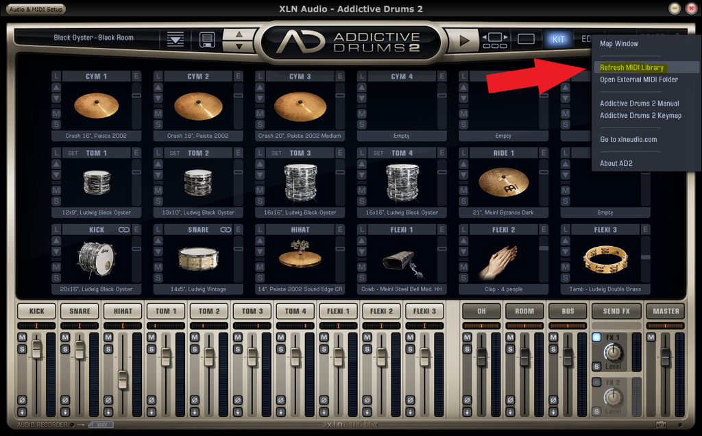 Addictive Drums 2 refresh library