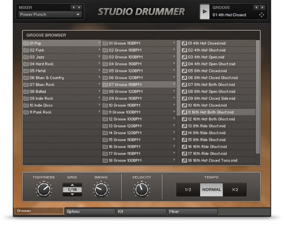 Studio Drummer Browser
