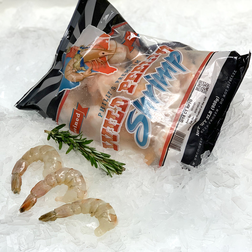 Philly U15 Raw Peeled & Deveined Tail On Wild Gulf Shrimp