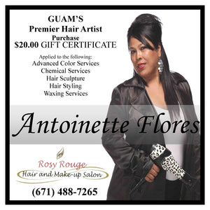 $45 Lift Me Up Package with Hair Artist Antoinette Flores