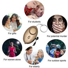 Load image into Gallery viewer, 130db Self Defense Personal Alarm Keychain