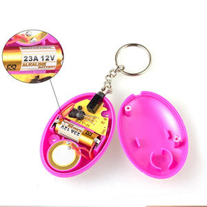 120dB Egg Shaped Personal Security Alarm Key Chain