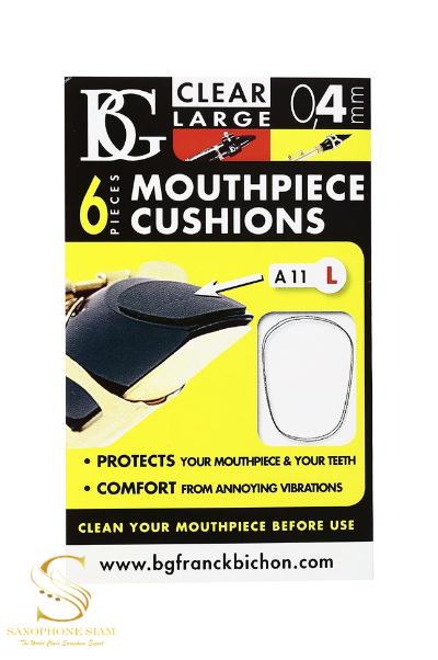 BG Mouthpiece Cushions A11L (Thin Clear-Large) - 0.4mm
