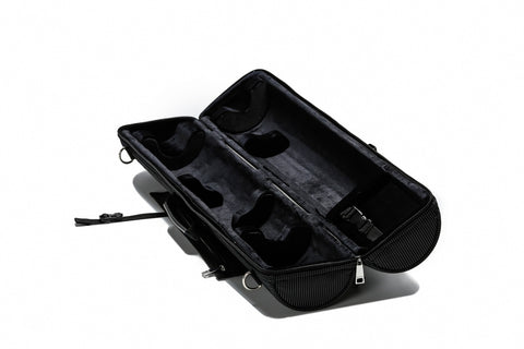 BROPRO Cylindrical Soprano case Black- Orchestra Style - P702T