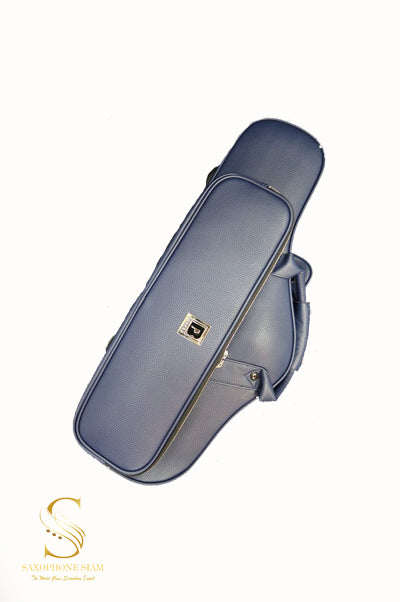 BROPRO Wooden Curved Alto saxophone case  Midnight Blue - Royal Style