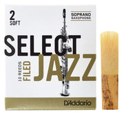 D'Addario Select Jazz Filed Soprano Saxophone Reed