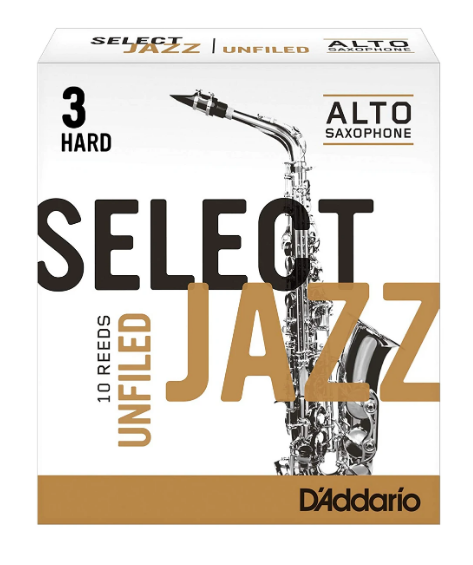 D'Addario Select Jazz Unfiled Alto Saxophone Reed