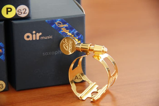 LIGATURE BARITONE SAX AIR MUSIC RACING SERIES GOLD PLATE