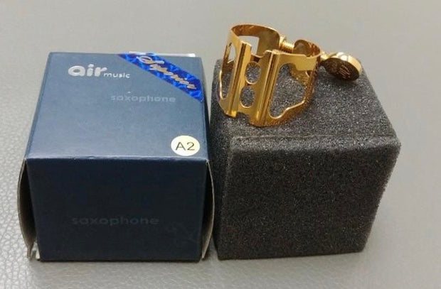 LIGATURE SOPRANO SAX AIR MUSIC PATENT 2 GOLD PLATE