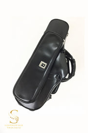 Wooden Curved Alto saxophone case  Black - Royal Style