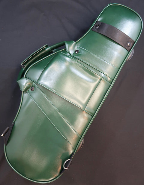 Wooden Curved Alto saxophone case  Dark green - Royal Style