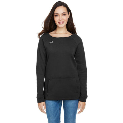 NEW Under Armour Ladies' Hustle Fleece Crewneck - Forest River Apparel