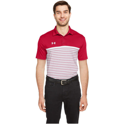 NEW Under Armour Stripe Mixup Polo - Forest River Apparel