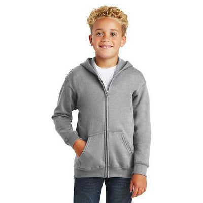 Gildan® Youth Heavy Blend™ Full-Zip Hooded Sweatshirt - Forest River Apparel