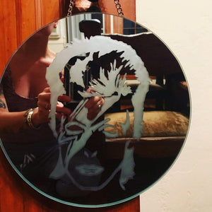 David Bowie/Ziggy Stardust Hanging Decorative Mirror