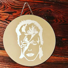 Load image into Gallery viewer, David Bowie/Ziggy Stardust Hanging Decorative Mirror