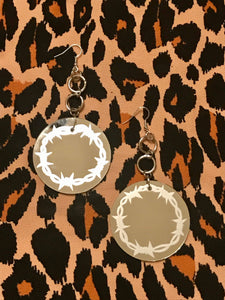 Barbed Wire Mirror Hoops