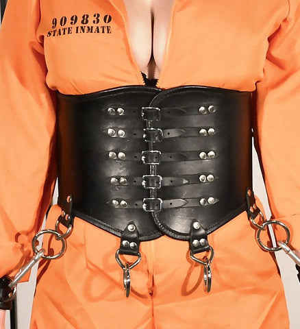 Wide Gothic Metal Waist Cincher