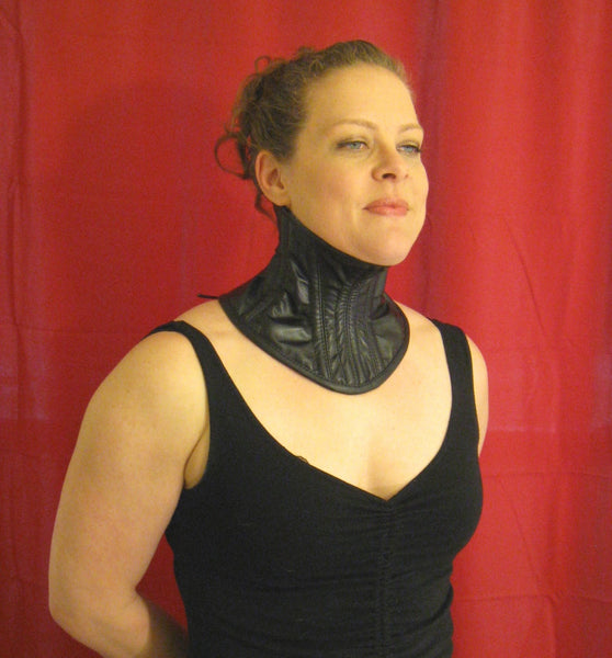 High-Necked Under Chin Steel Boned Neck Corset