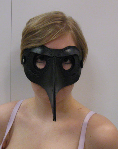 Hand Made Leather Raven/Crow Masquerade Mask