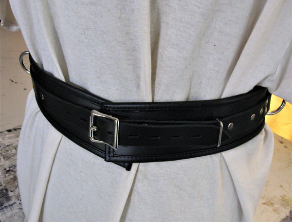 Locking Leather Lined/Edged Bondage Restraint Belt