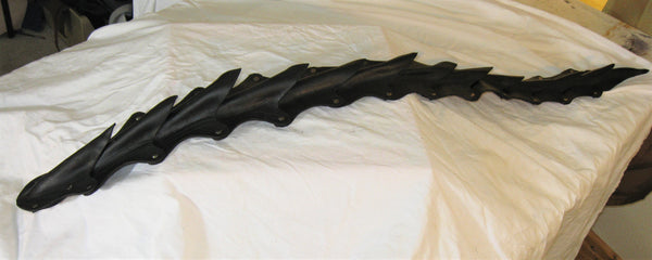"Leather Molded Belt Mounted 40"" Black Dragon/Demon Tail"