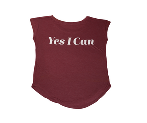 LS Yes I Can Yoga Cap Sleeve T-Shirt