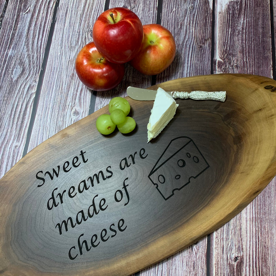 "We think we're pretty punny;) Check out our selection of ""cheesy"" boards. Have something you would like to customize, let us know!"