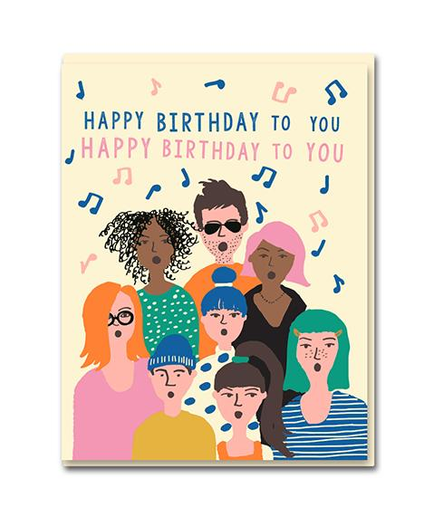 Happy Birthday Card - Choir / Feliz Cumpleaños