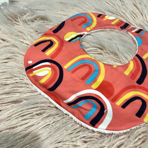Rust Rainbow Curved bib