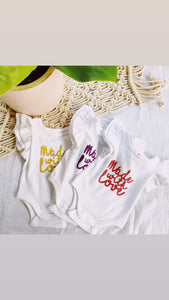 'Made With Love' onesie- Size 0000