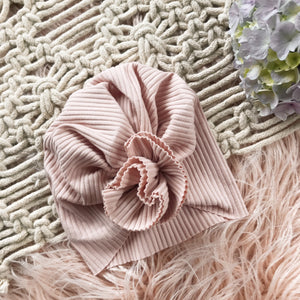 Blush Ribbed Turban