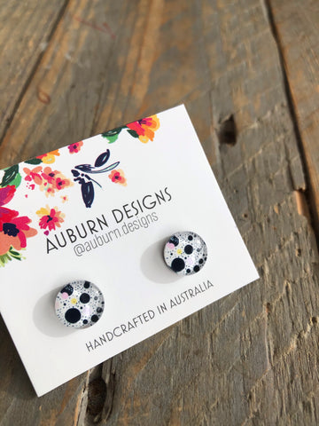 Black and White Spots Earrings