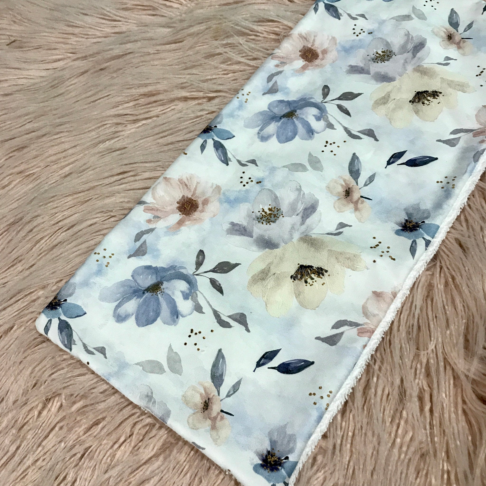 Pastel Floral Burp Cloth