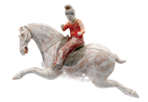 Chinese Polo Player Figure