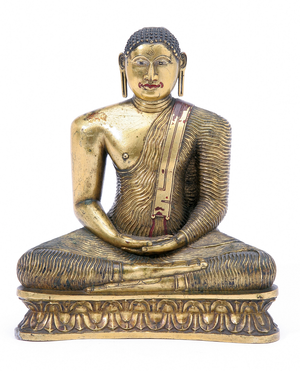 Ceylonese Gilt Bronze Figure
