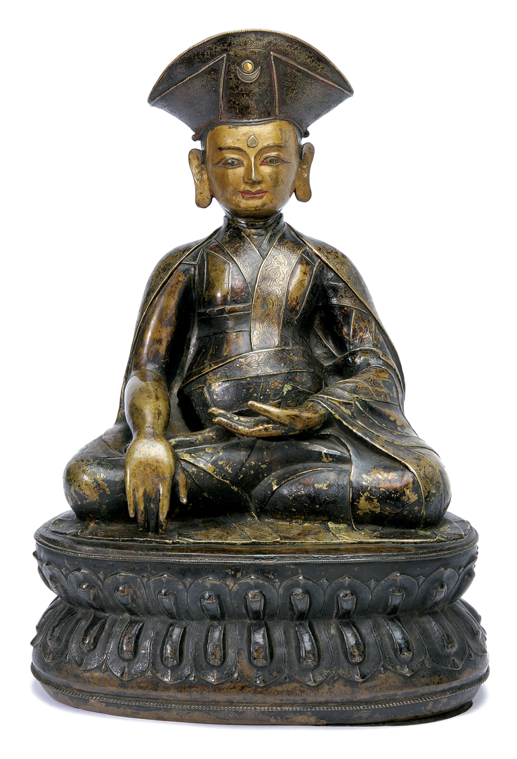 Tibetan Bronze Figure of Monk