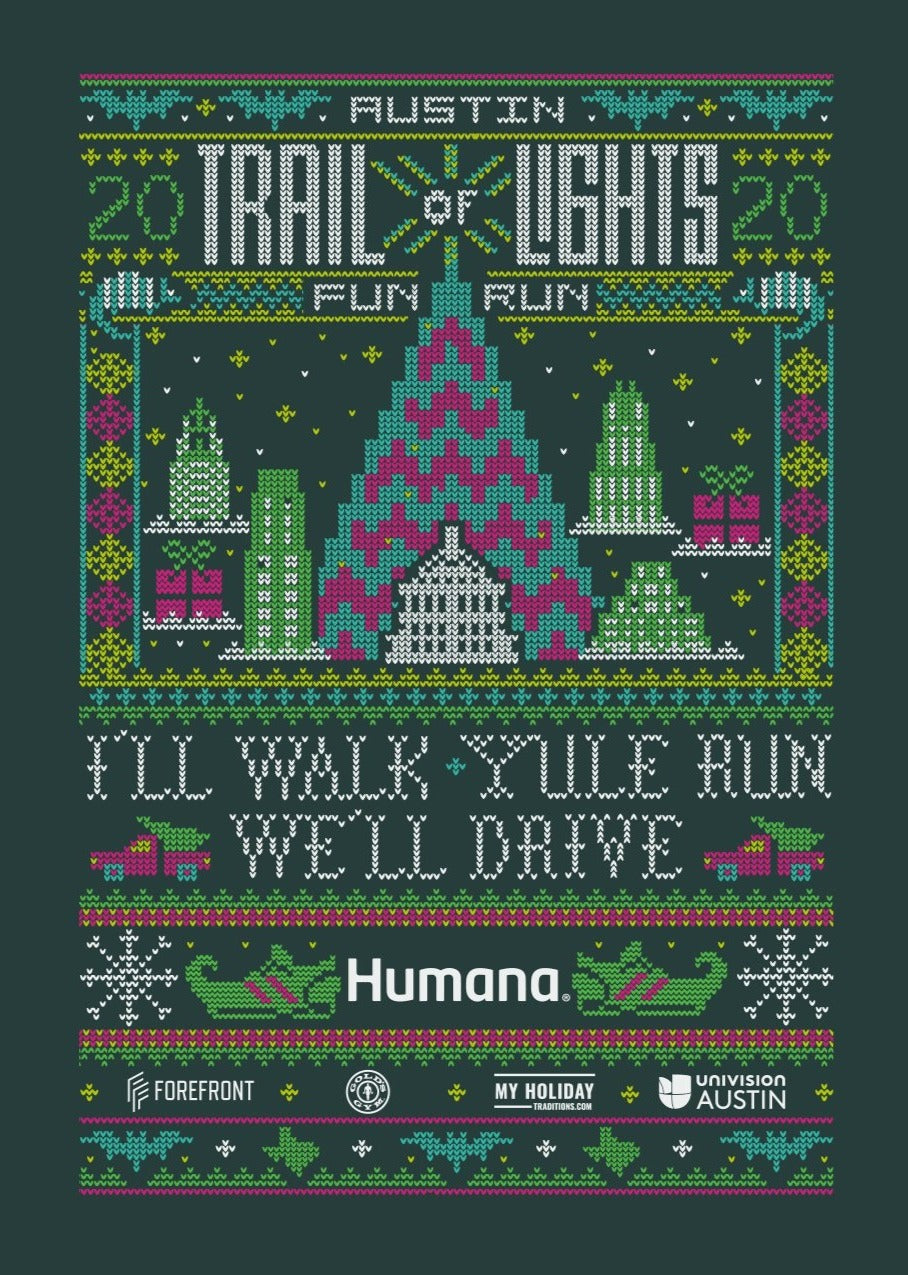 Austin Trail of Lights 2020 Fun Run Shirt